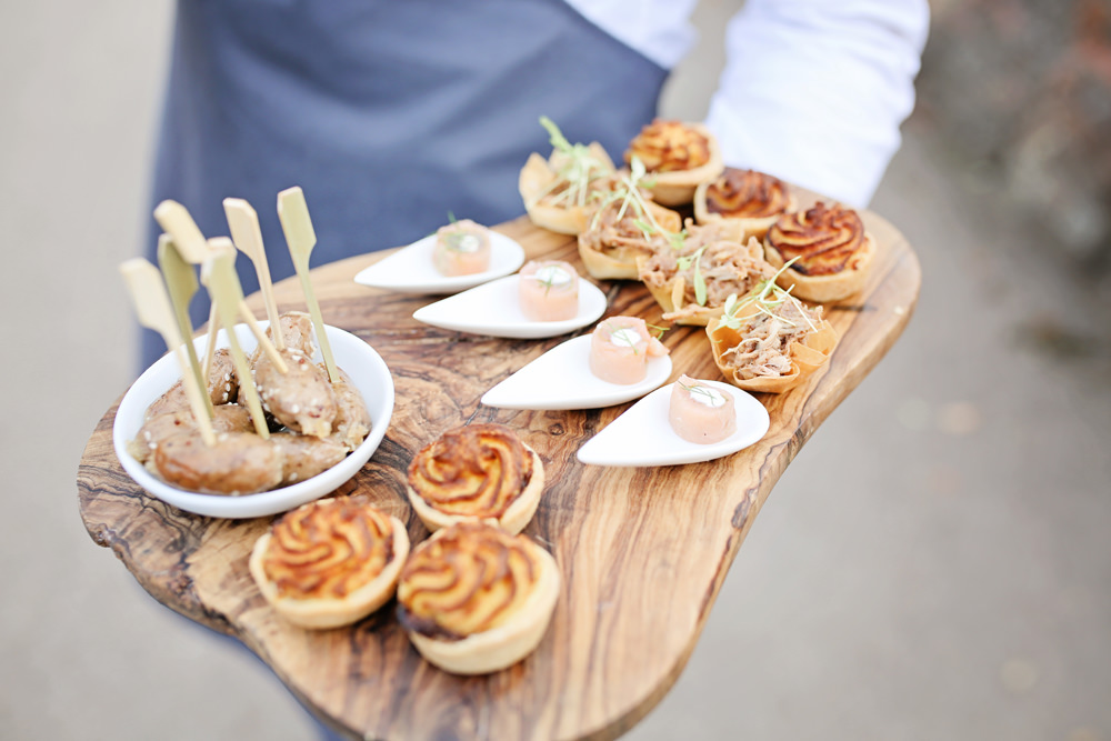 Canapes Milling Barn Wedding Victoria Mitchell Photography