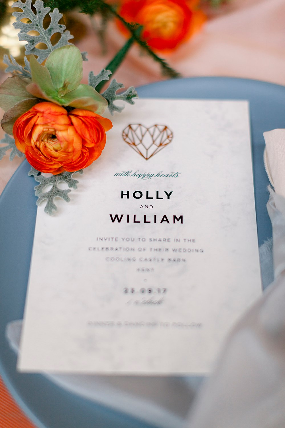 Place Setting Decor Heart Stationery Natural Boho Industrial Wedding Ideas Jo Bradbury Photography
