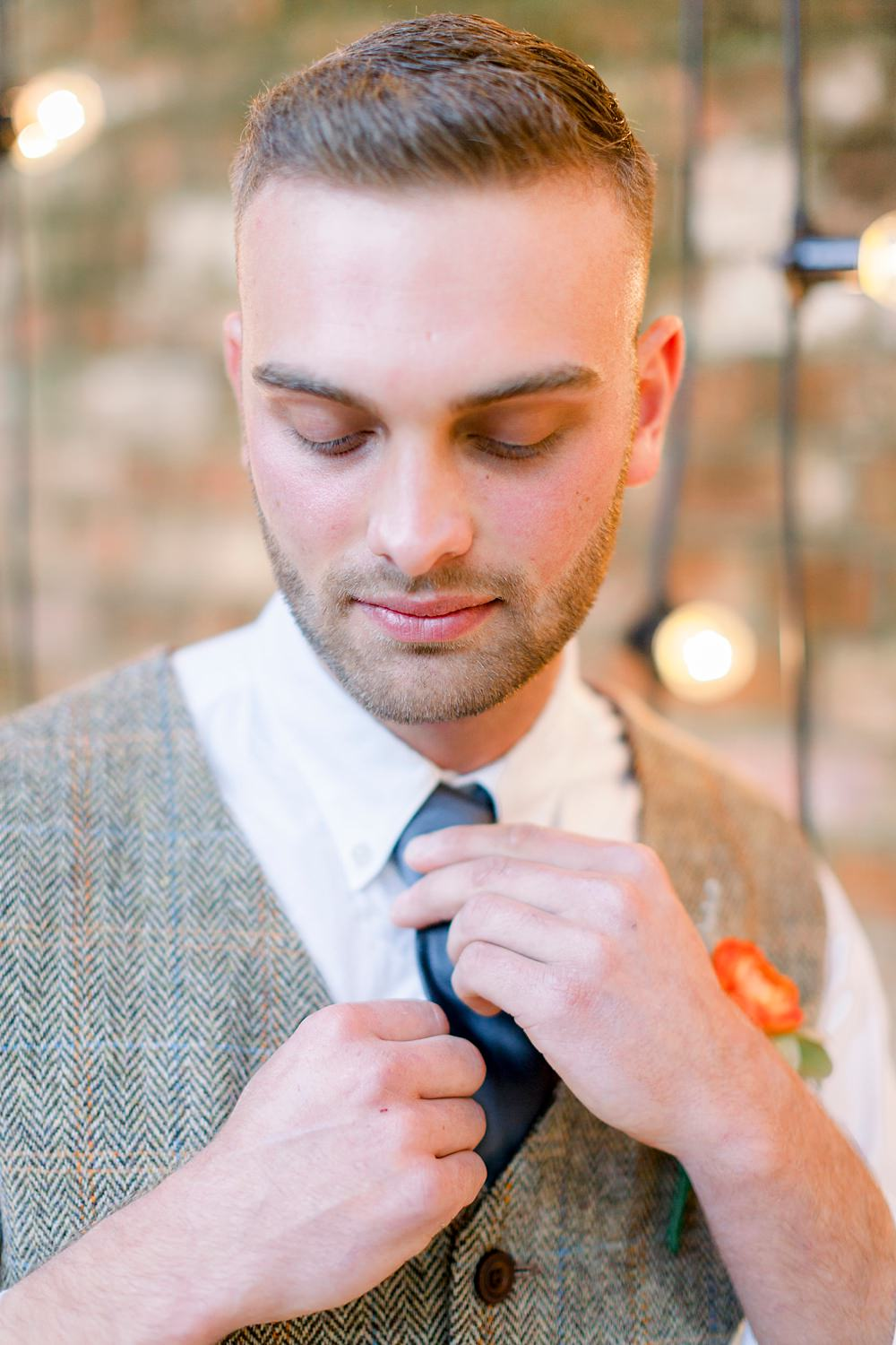 Groom Style Outfit Attire Waistcoat Natural Boho Industrial Wedding Ideas Jo Bradbury Photography