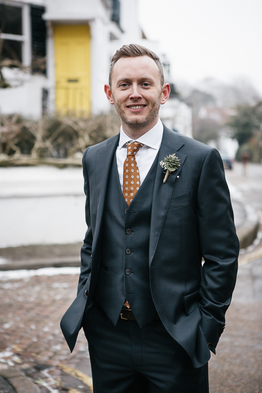 Groom Groomsmen Suits Orange Tie Polka Dot Spotty Orleans House Gallery Wedding My Beautiful Bride Photography