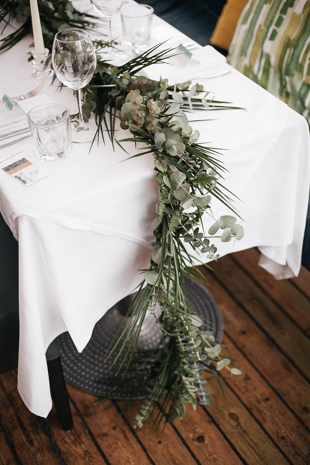 Long Tables Greenery Foliage Runner Swag Garland Lanterns Orleans House Gallery Wedding My Beautiful Bride Photography