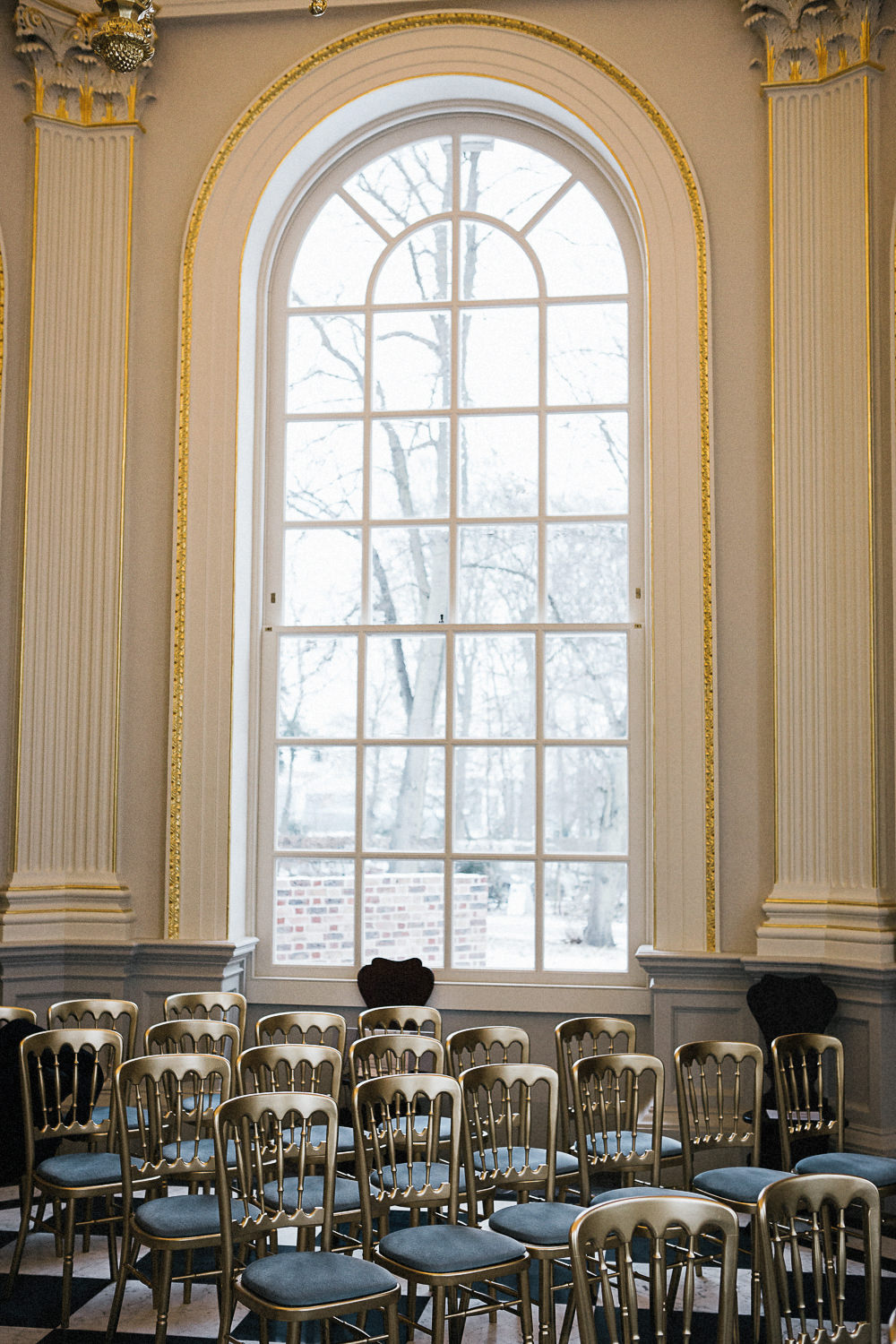 Gold Chairs Ceremony Aisle Orleans House Gallery Wedding My Beautiful Bride Photography