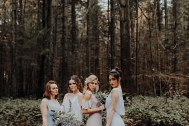 Outdoor Woodland Wedding Ideas with Luxe Geometric Decor