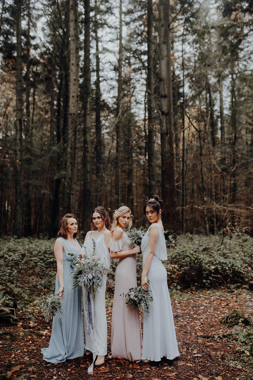 Bridesmaids Bridesmaid Dresses Pastel Dress Outdoor Woodland Wedding Ideas Geometric Meraki Wedding Photography