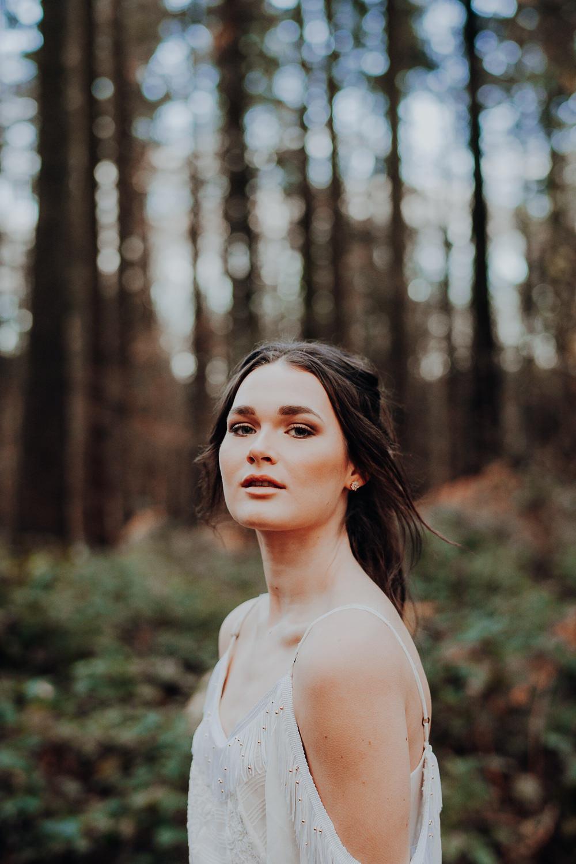 Bride Bridal Make Up Outdoor Woodland Wedding Ideas Geometric Meraki Wedding Photography