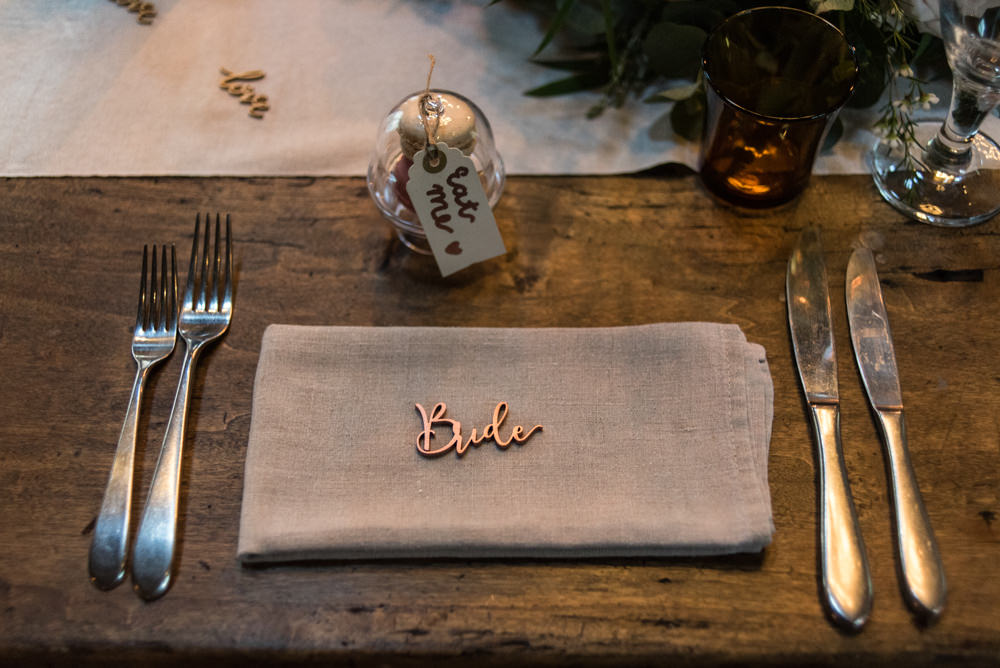 Laser Cut Place Name Penally Abbey Wedding Eleanor Jane Photography