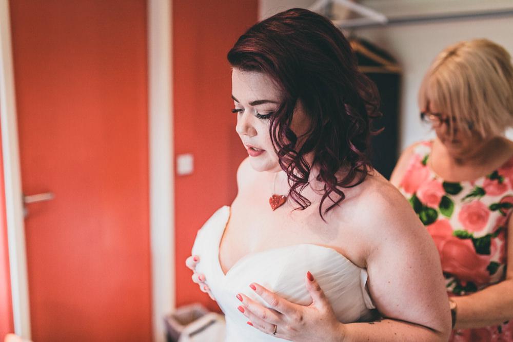 Bride Bridal Hair Waves Rock Village Hall Wedding Lucie Hamilton Photography