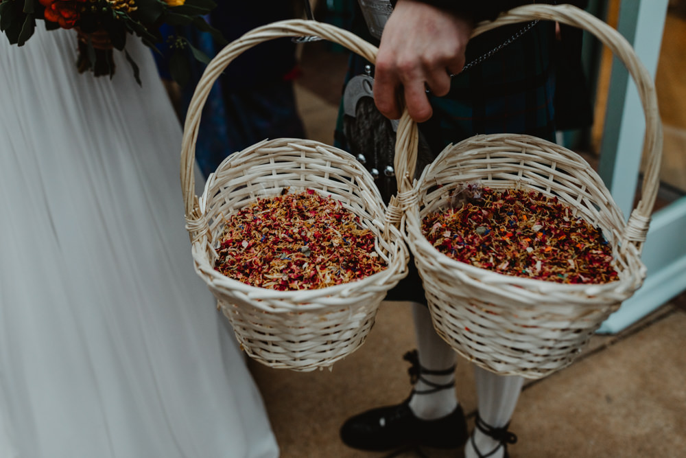 Confetti Basket Sun Pavilion Wedding Stevie Jay Photography