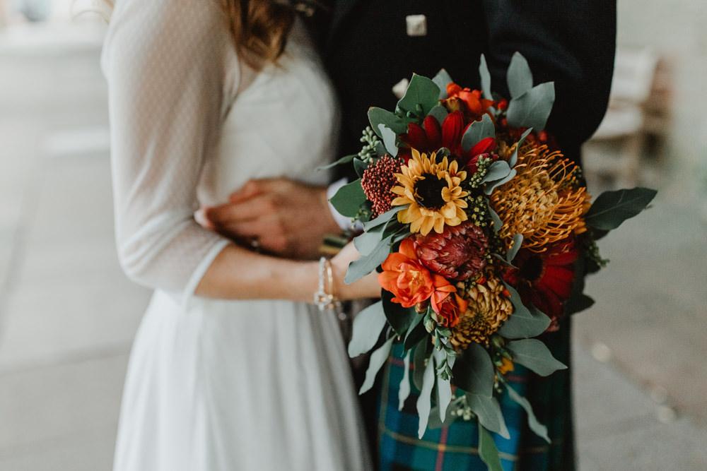 Autumn Flower Bouquet Sun Pavilion Wedding Stevie Jay Photography