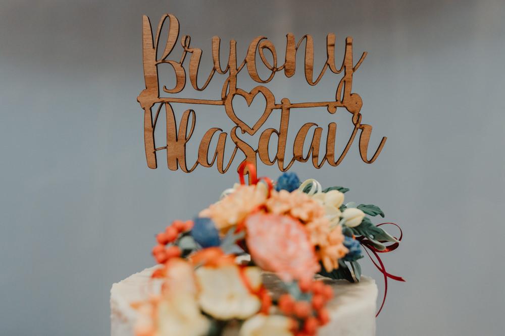 Laser Cut Wood Cake Topper Sun Pavilion Wedding Stevie Jay Photography