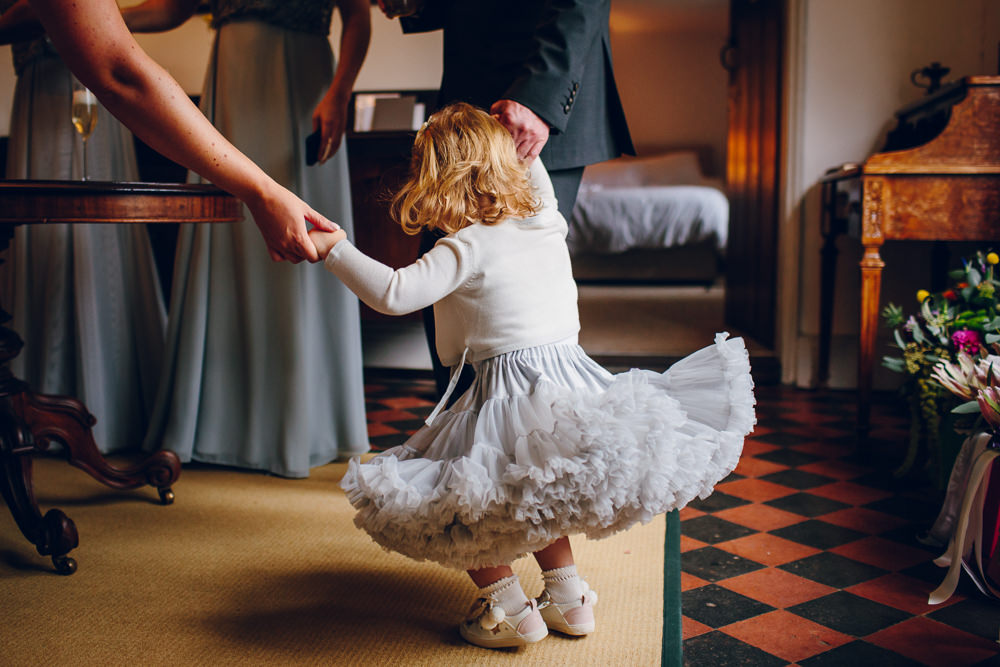 Flower Girl Tulle Skirt Tatton Wedding Stock Farm Barn Amy B Photography