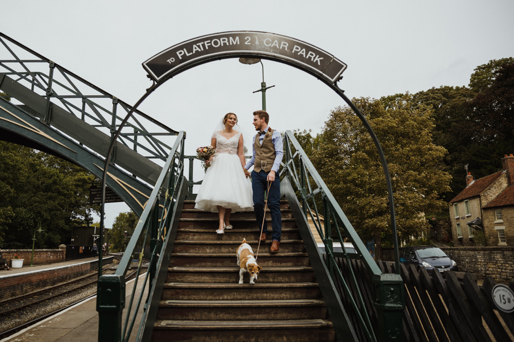 Dog Pet Train Station Harry Potter Wedding Photography34