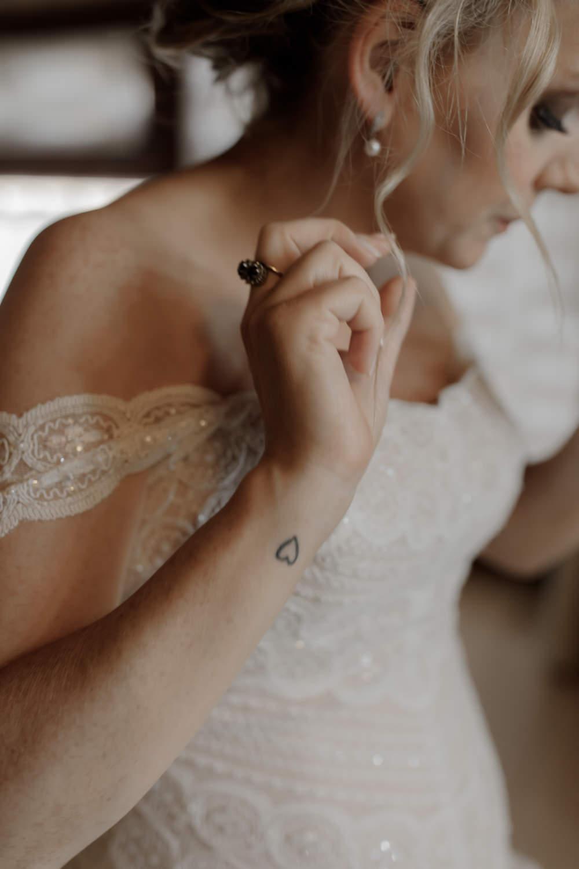 Bride Bridal Tattoo Heart Wrist Tuscany Destination Wedding ZONZO