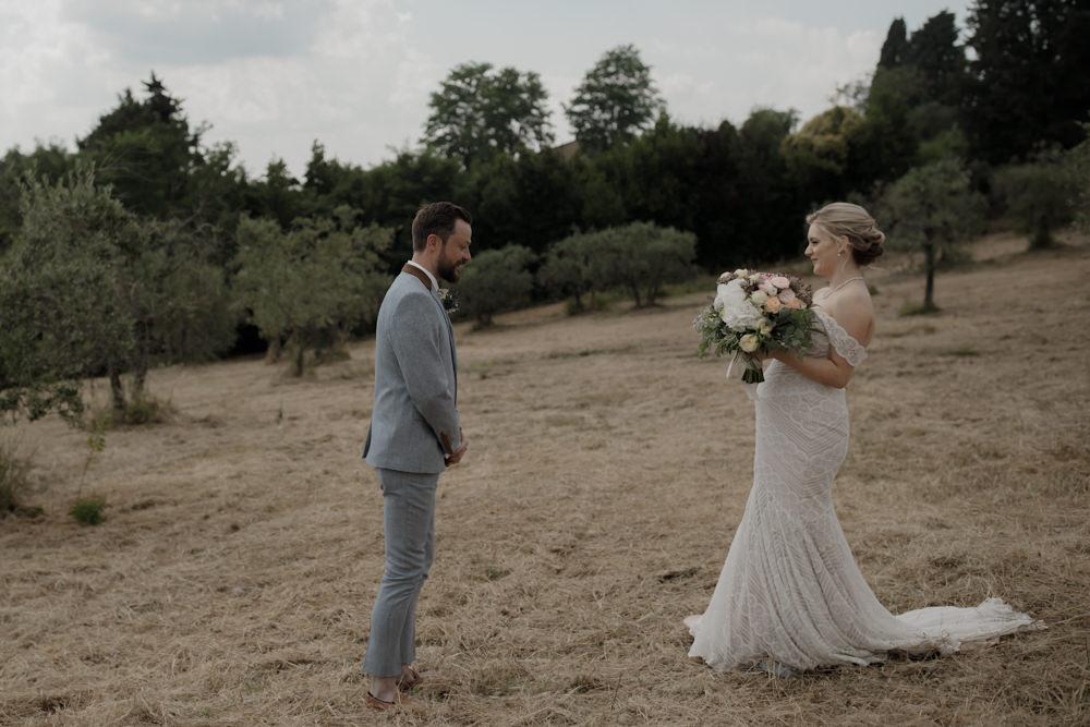 First Look Tuscany Destination Wedding ZONZO