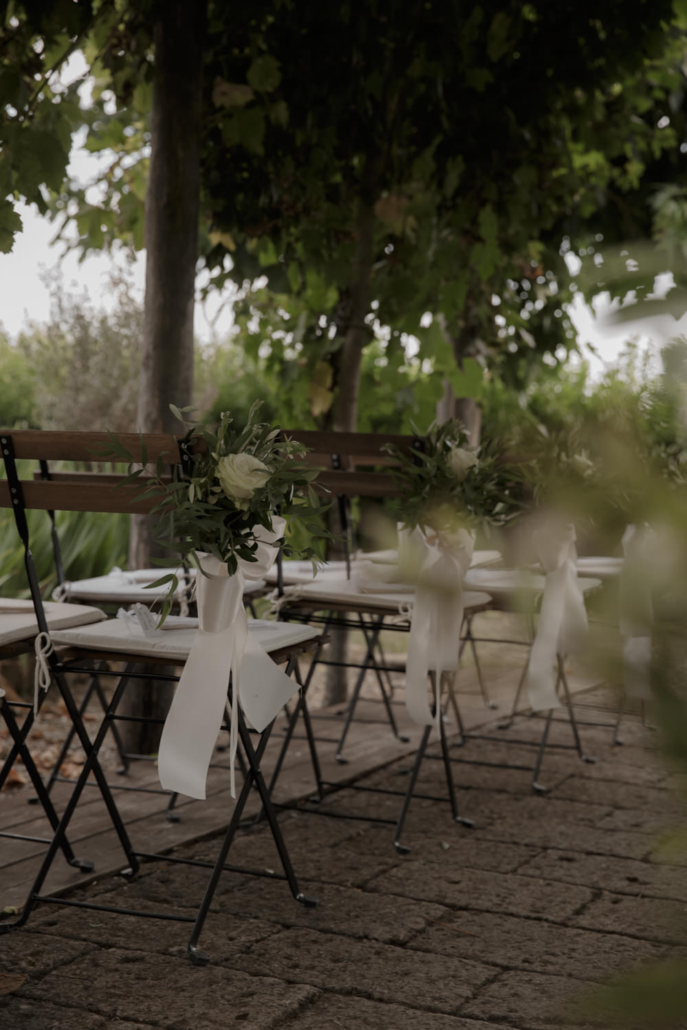 Pew End Chair Flowers Ceremony Aisle Tuscany Destination Wedding ZONZO