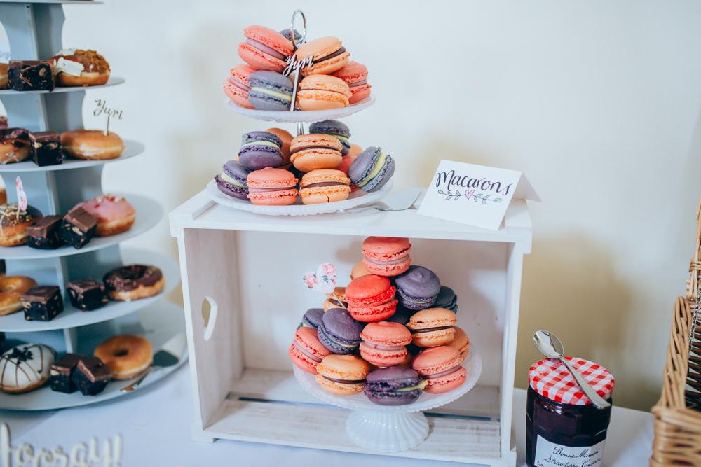 Macarons Village Hall Wedding Samantha Kay Photography