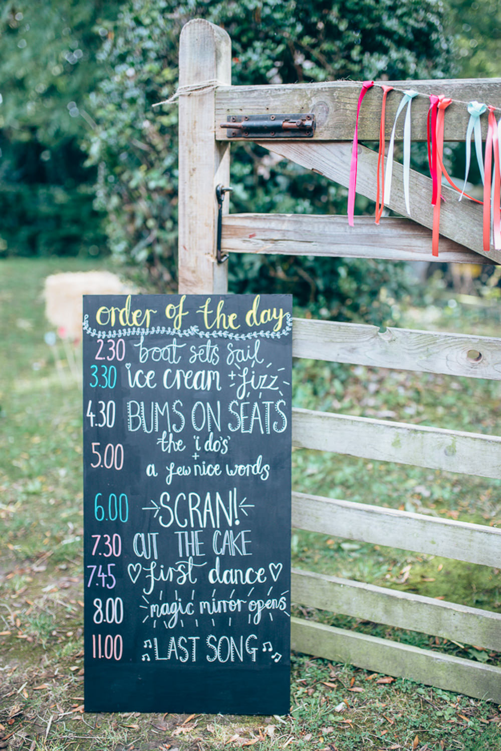 Black Chalk Board Sign Signage Village Hall Wedding Samantha Kay Photography