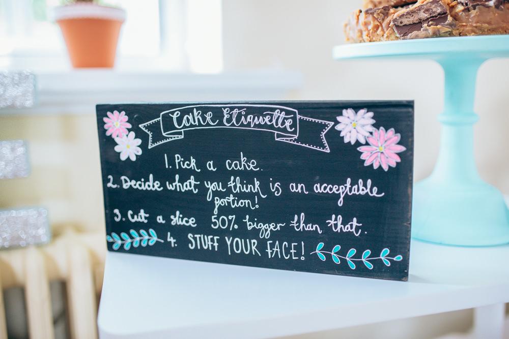 Chalk Black Board Sign Signage Cake Village Hall Wedding Samantha Kay Photography