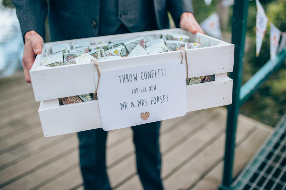 Confetto Crate Boxes Box Village Hall Wedding Samantha Kay Photography