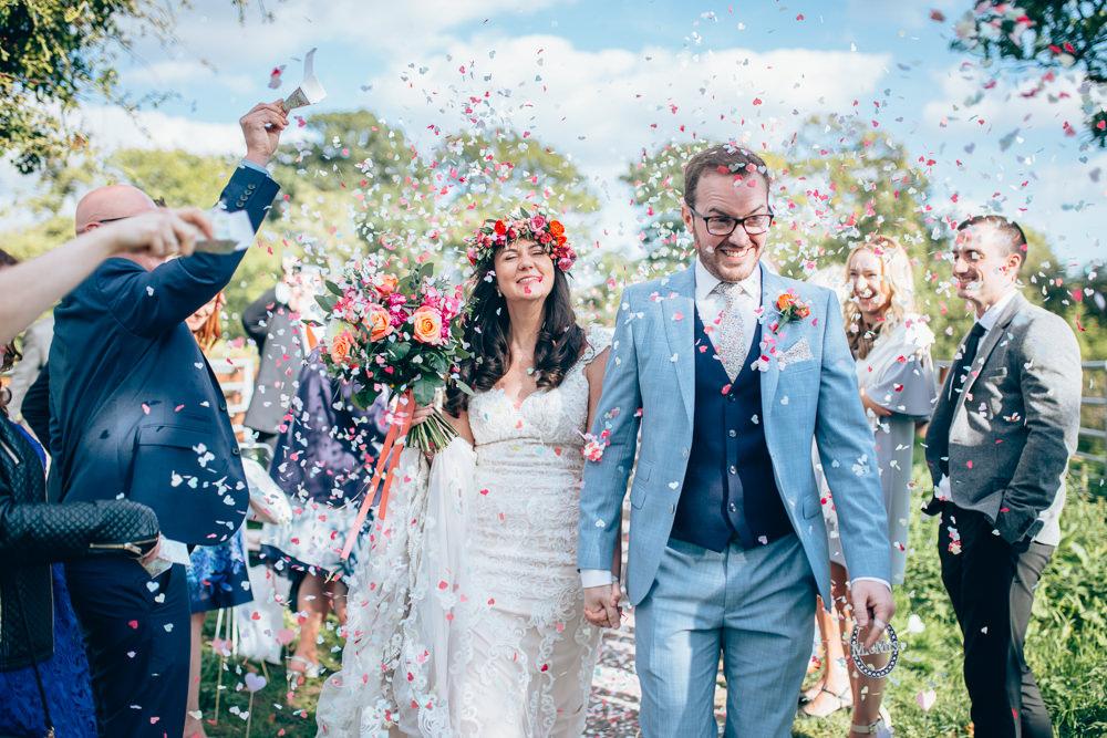 Confetti Throw Village Hall Wedding Samantha Kay Photography