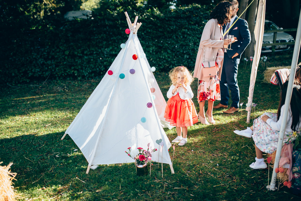 Tipi Tent Kids Children Village Hall Wedding Samantha Kay Photography