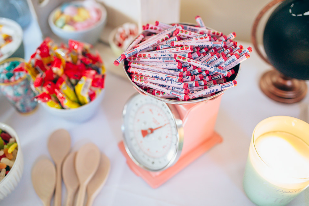 Sweets Sweetie Table Village Hall Wedding Samantha Kay Photography