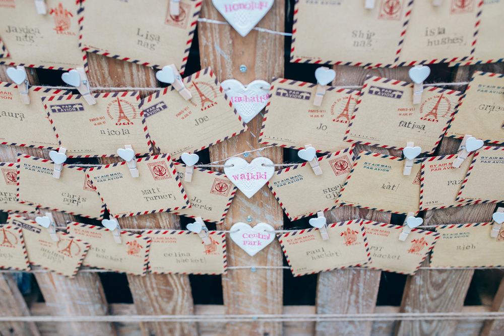 Seating Plan Table Chart Post Postcard Village Hall Wedding Samantha Kay Photography