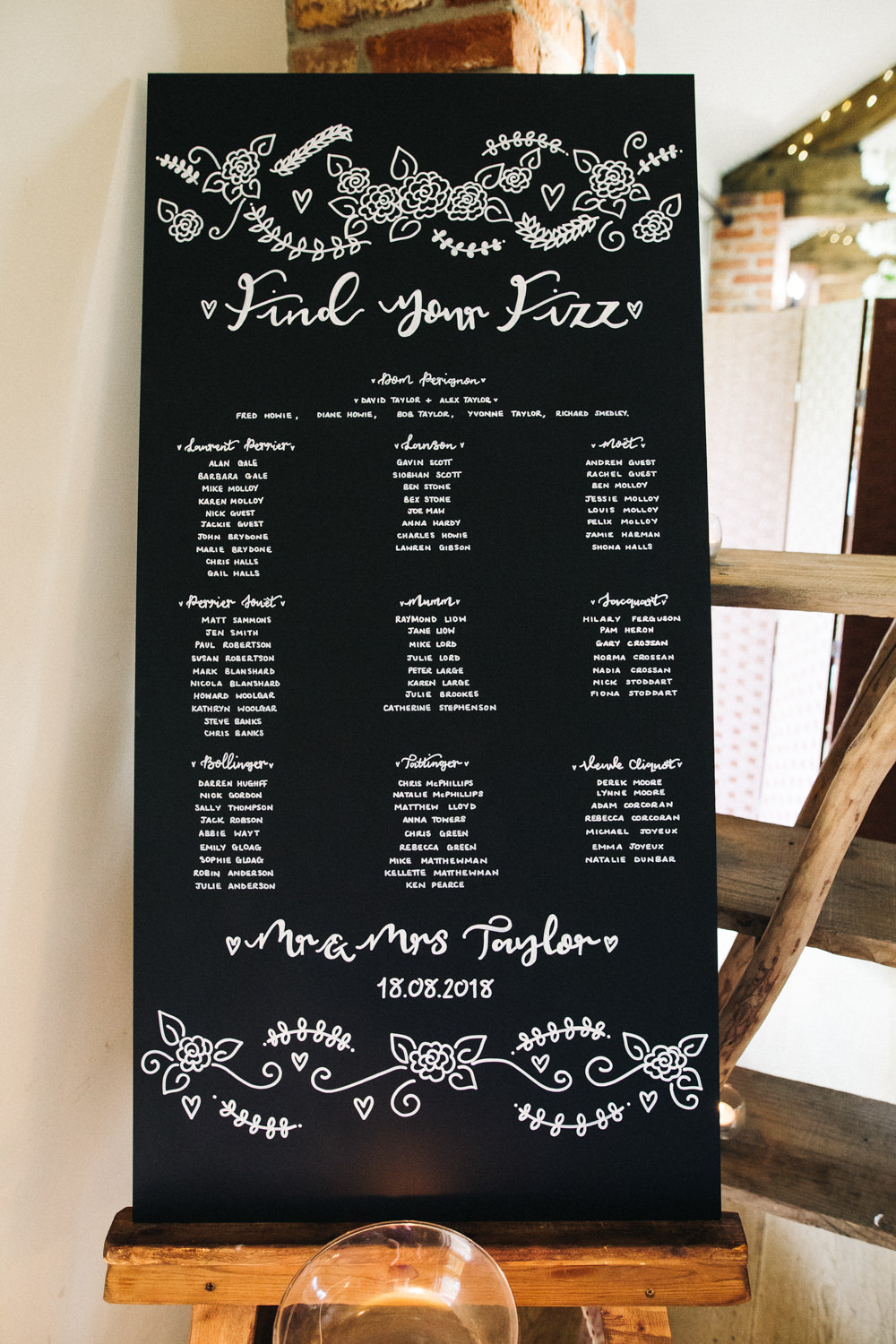 Chalk Board Table Plan Seating Chart Calligraphy Whinstone View Wedding Sally T Photography