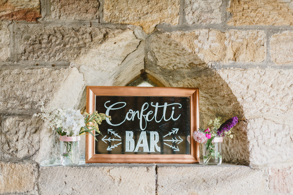 Confetti Bar Stand Station Wylam Brewery Wedding Amy Lou Photography