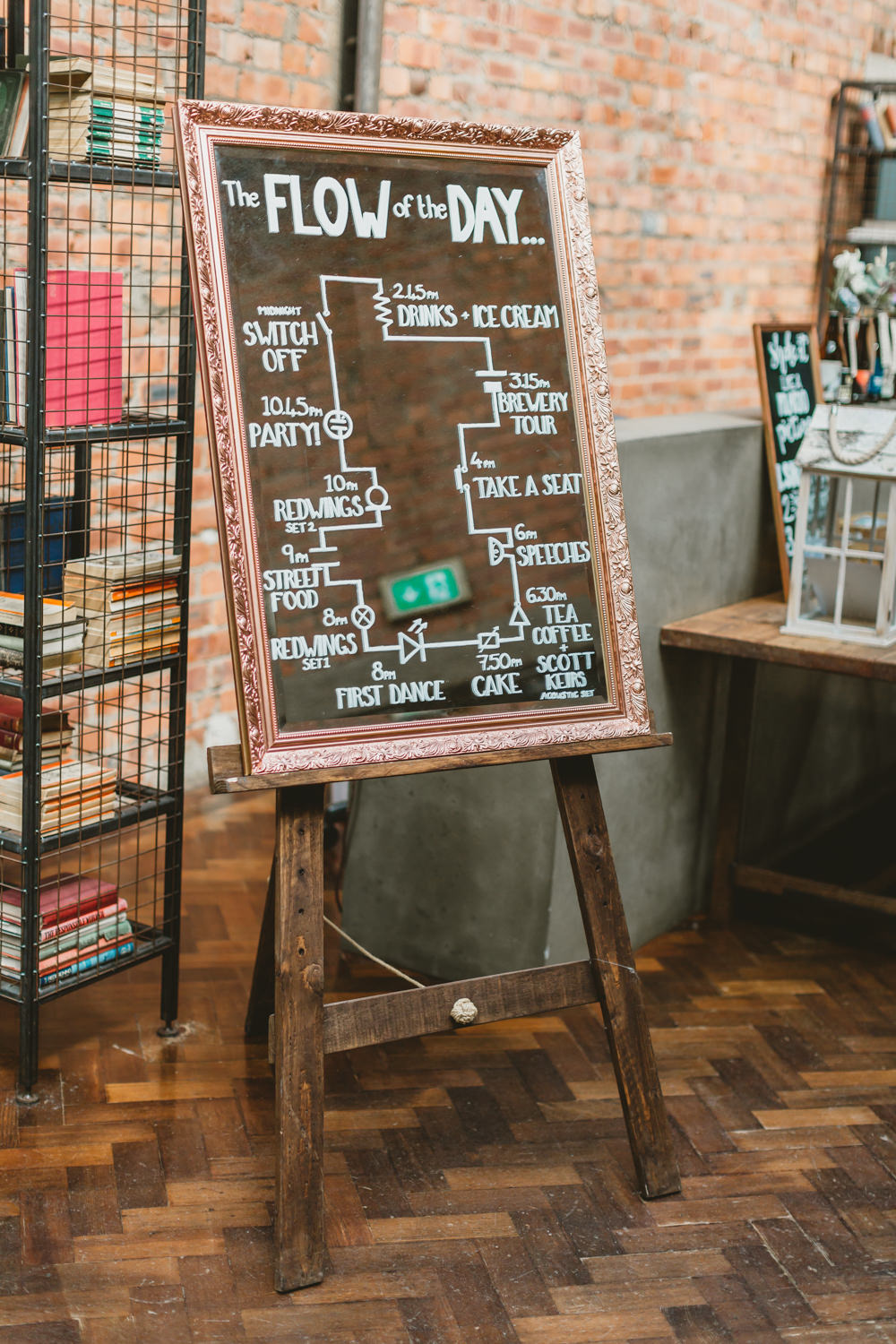 Sign Signage Timings Order of the Day Wylam Brewery Wedding Amy Lou Photography