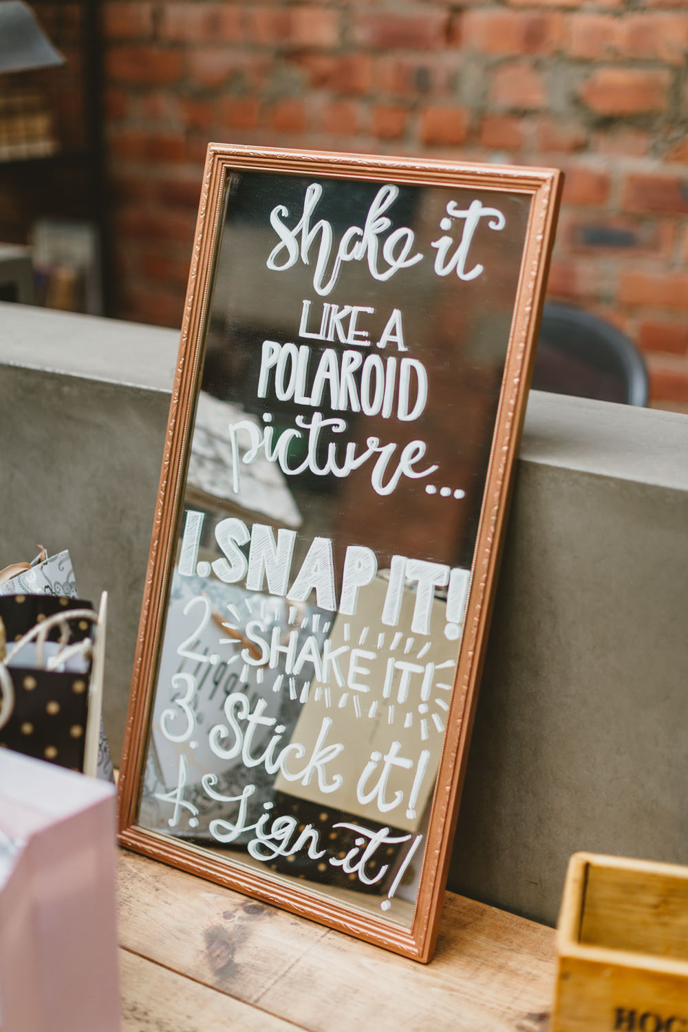 Polaroid Guest Book Wylam Brewery Wedding Amy Lou Photography