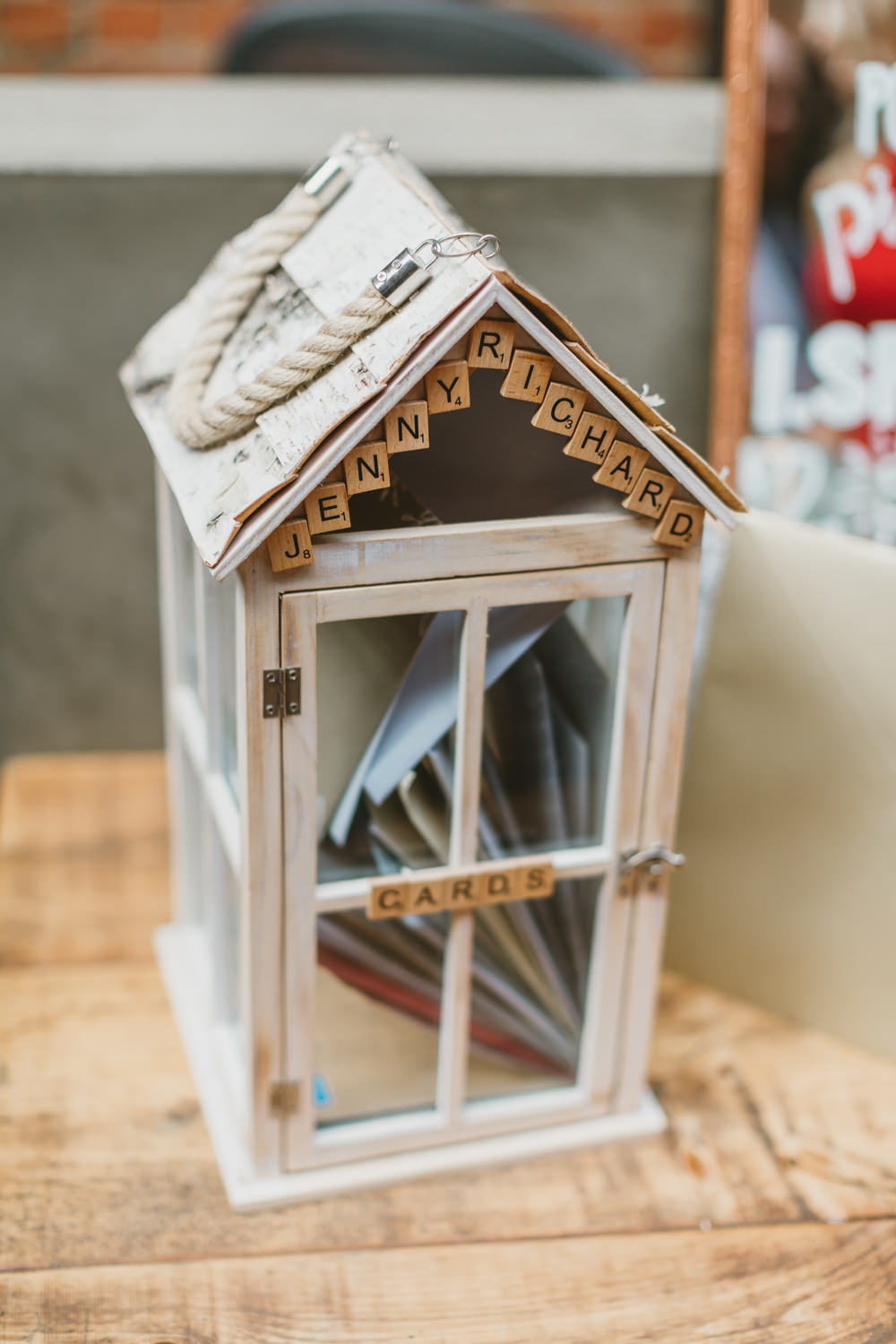 Card Box Holder Gifts Wylam Brewery Wedding Amy Lou Photography