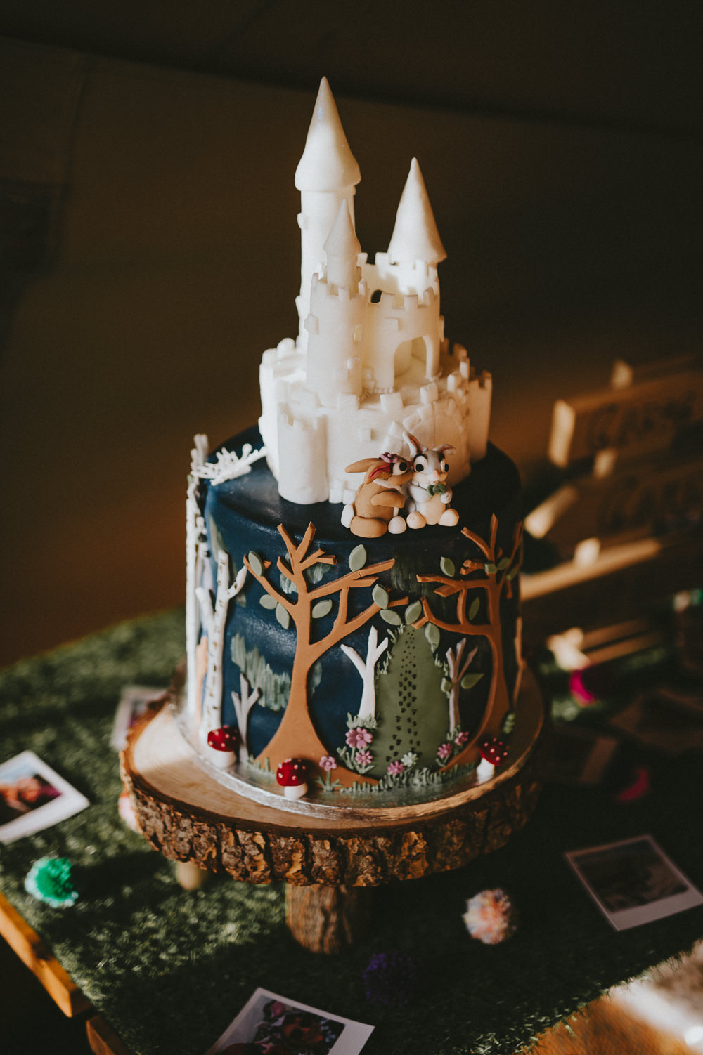 Disney Castle Woodland Cake Ash Farm Barns Wedding Flawless Photography