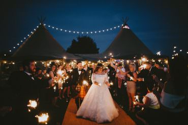 Incredible DIY Glastonbury Themed Tipi Wedding