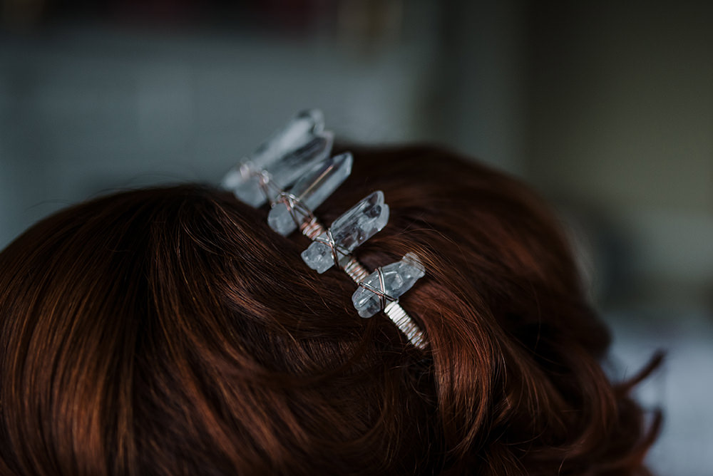 Crown Tiara Crystals Bride Bridal Accessory Hair Blue Wedding Ideas Emma McNair Photography