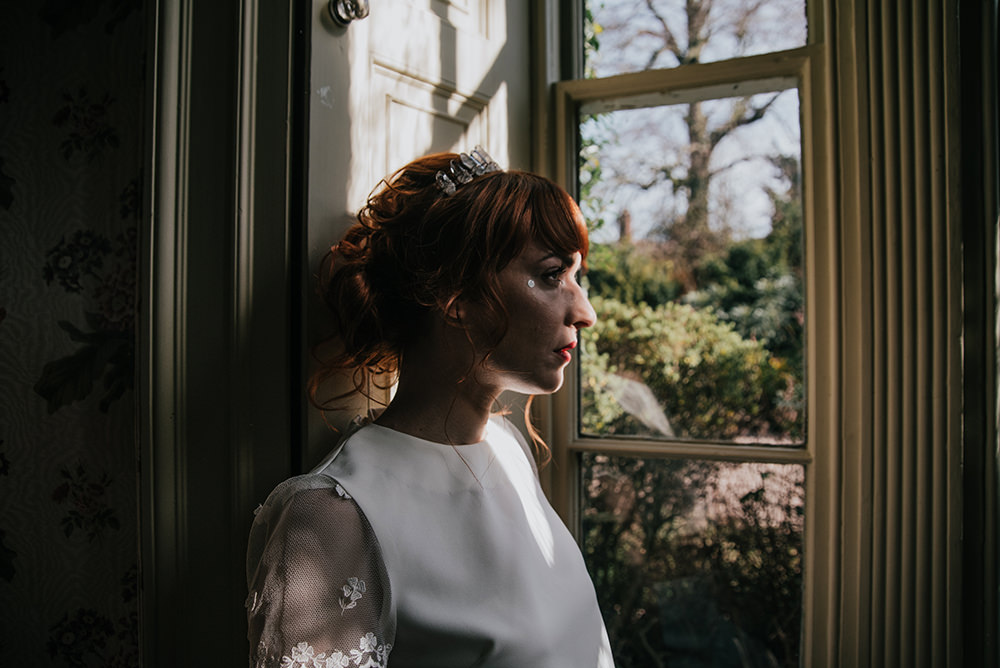 Bride Bridal Hair Style Up Do Blue Wedding Ideas Emma McNair Photography