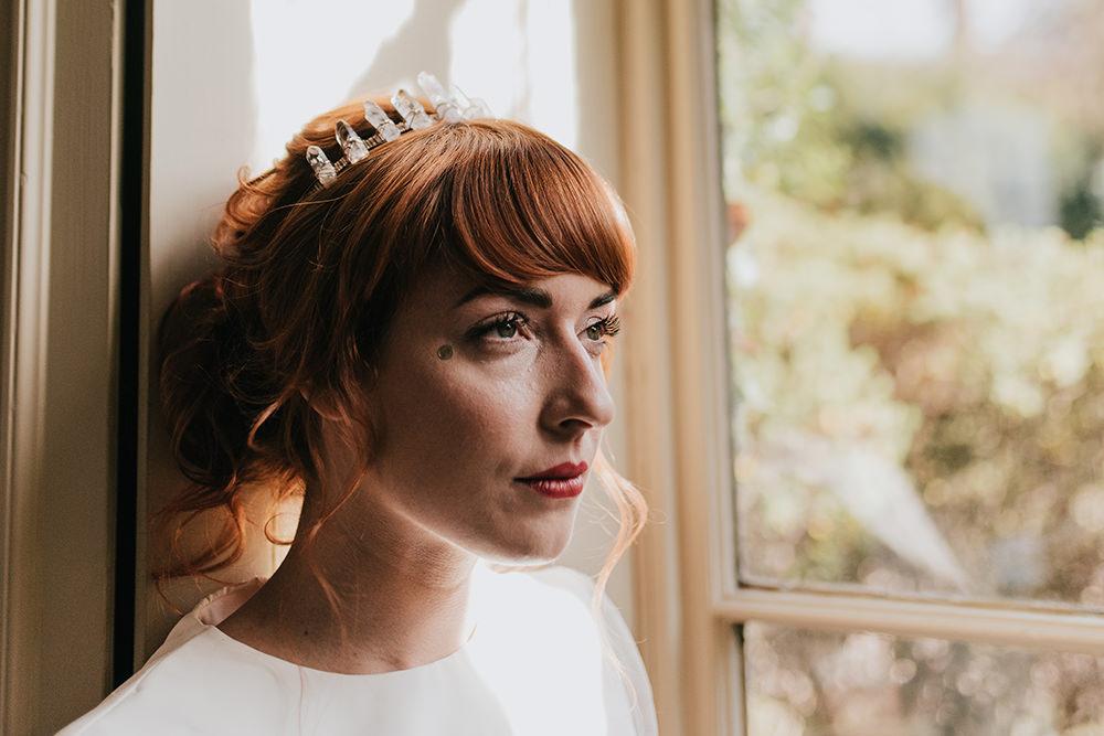 Bride Bridal Make Up Blue Wedding Ideas Emma McNair Photography