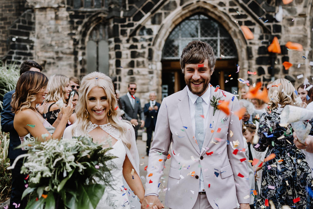 Colourful Confetti Botanical Industrial Wedding Caitlin and Jones Photography