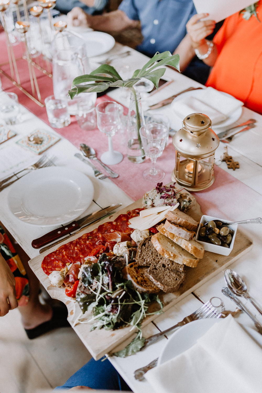 Sharing Platter Food Botanical Industrial Wedding Caitlin and Jones Photography