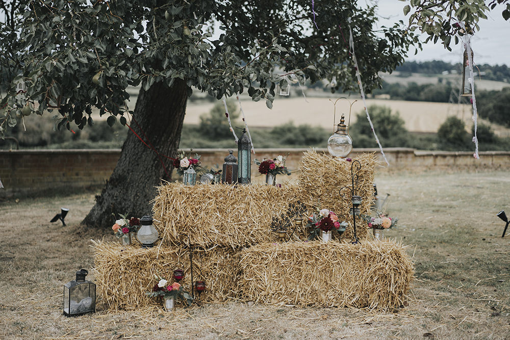 Hay Bale Storm Lanterns Shepherds Crook Celestial Cow Shed Wedding Tora Baker Photography