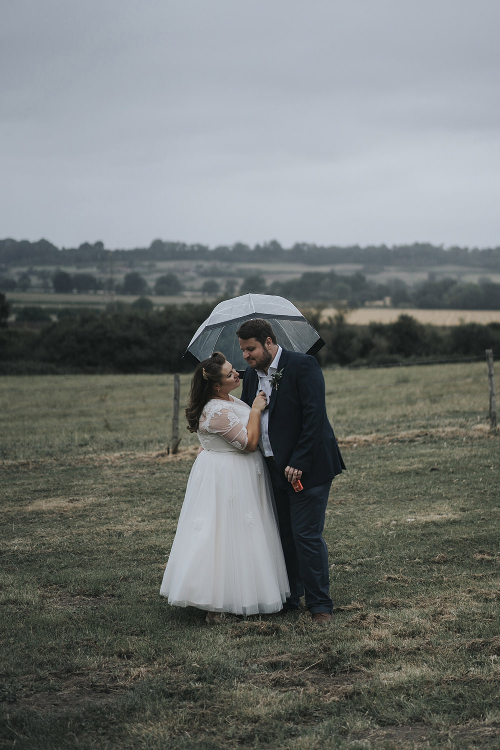 Bride Bridal Dress Gown Overlay Belt See Through Sleeves Open Shirt Groom Rain Umbrella Celestial Cow Shed Wedding Tora Baker Photography
