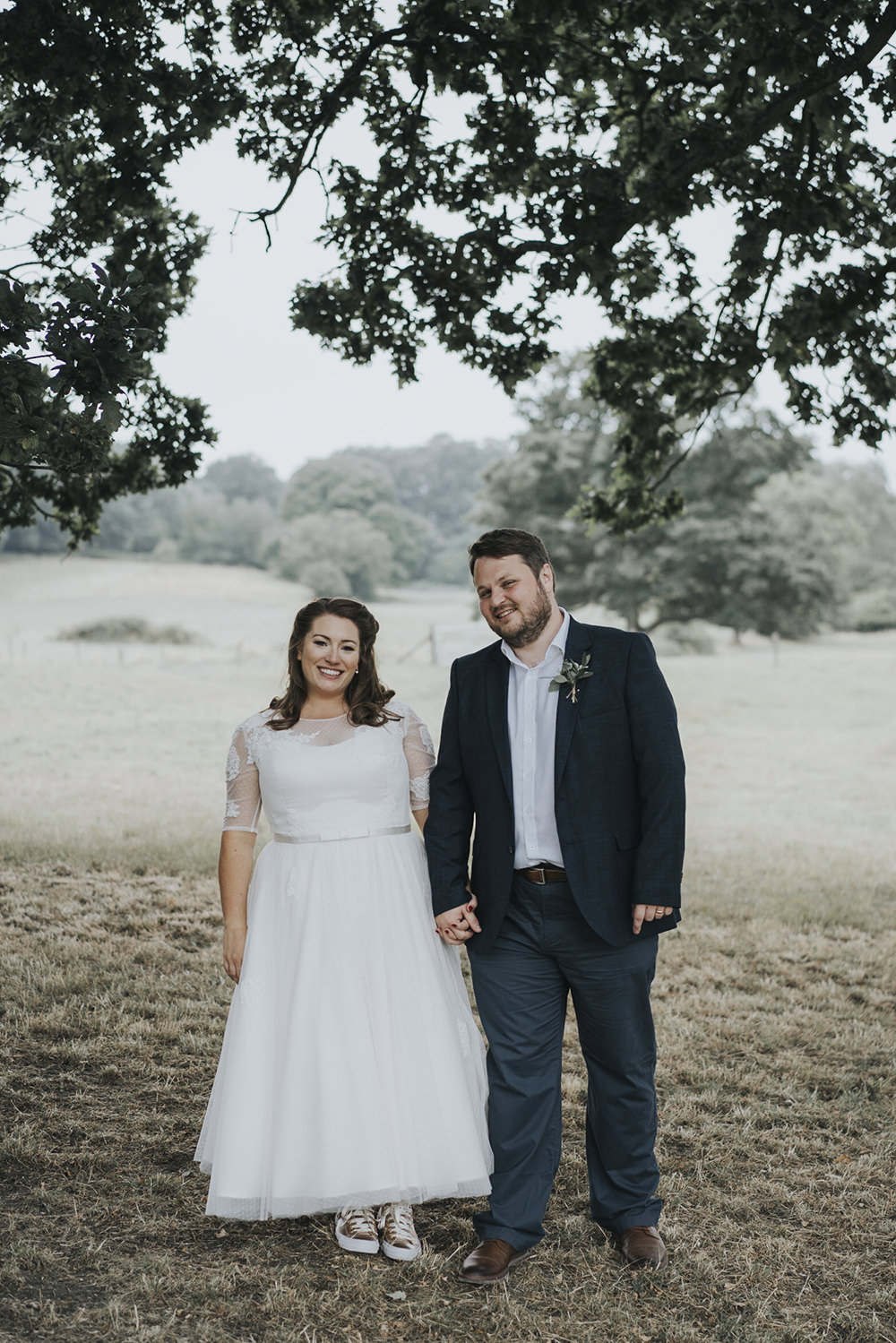 Bride Bridal Dress Gown Overlay Belt See Through Sleeves Open Shirt Groom Celestial Cow Shed Wedding Tora Baker Photography