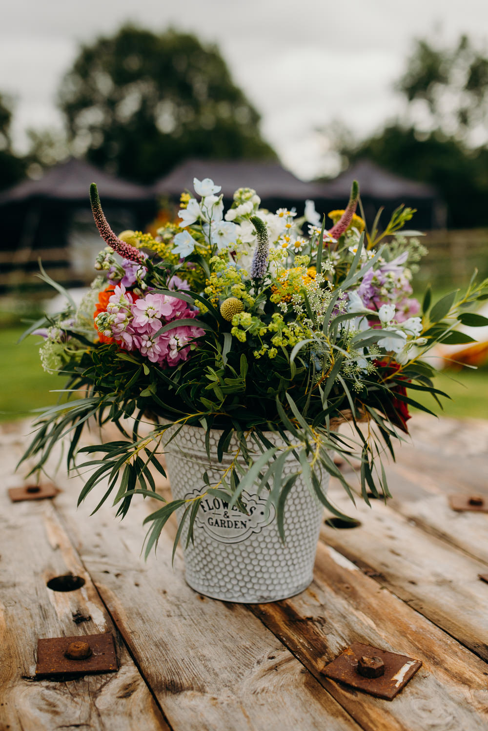 Wild Meadow Flowers Wildflowers Colourful Stretch Tent Wedding Peter Mackey Photography