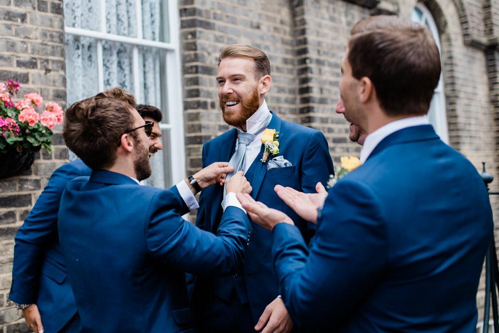 Blue Suit Groomsmen Creative Summer Wedding Gemma Giorgio Photography