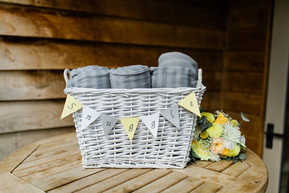 Blanket Basket Bunting Snuggle Creative Summer Wedding Gemma Giorgio Photography