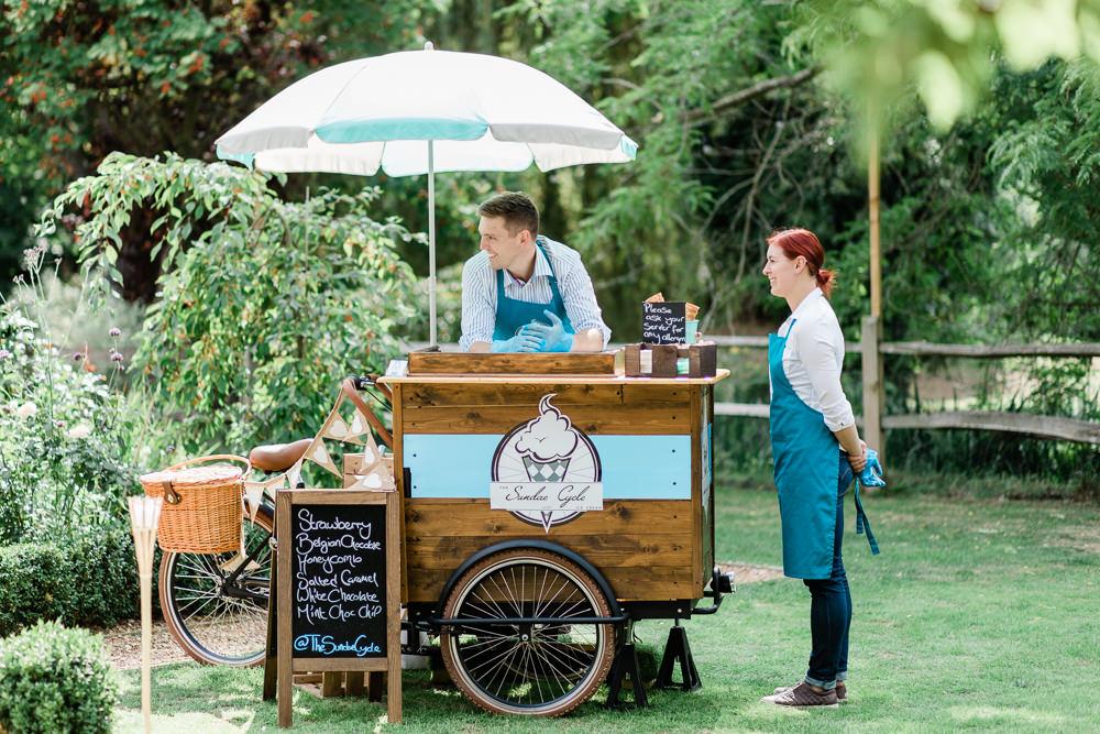 Ice Cream Bicycle Trailer Creative Summer Wedding Gemma Giorgio Photography