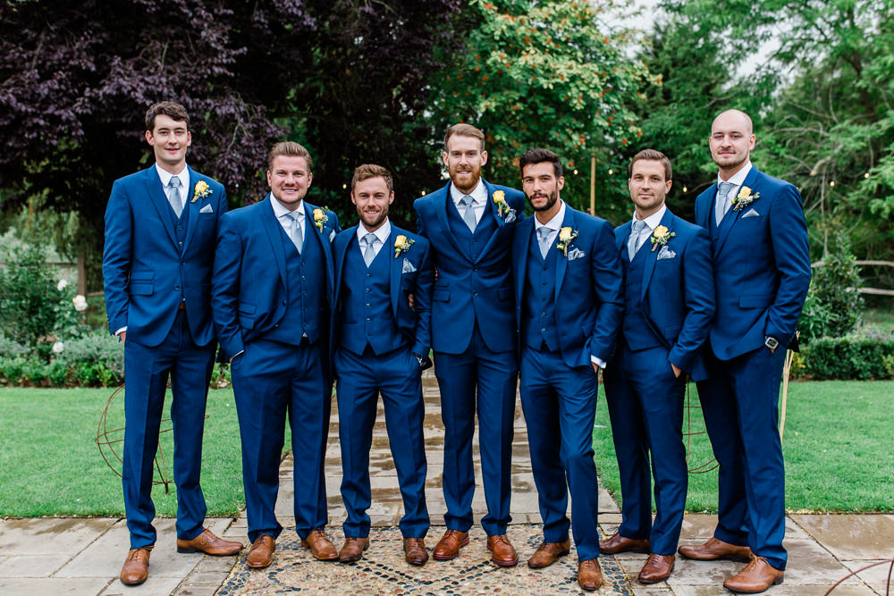 Groom Groomsmen Blue Three Piece Waistcoat Suit Creative Summer Wedding Gemma Giorgio Photography