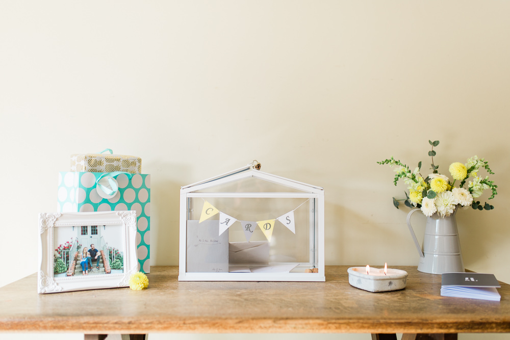 Cards Bunting Terrarium Box Creative Summer Wedding Gemma Giorgio Photography