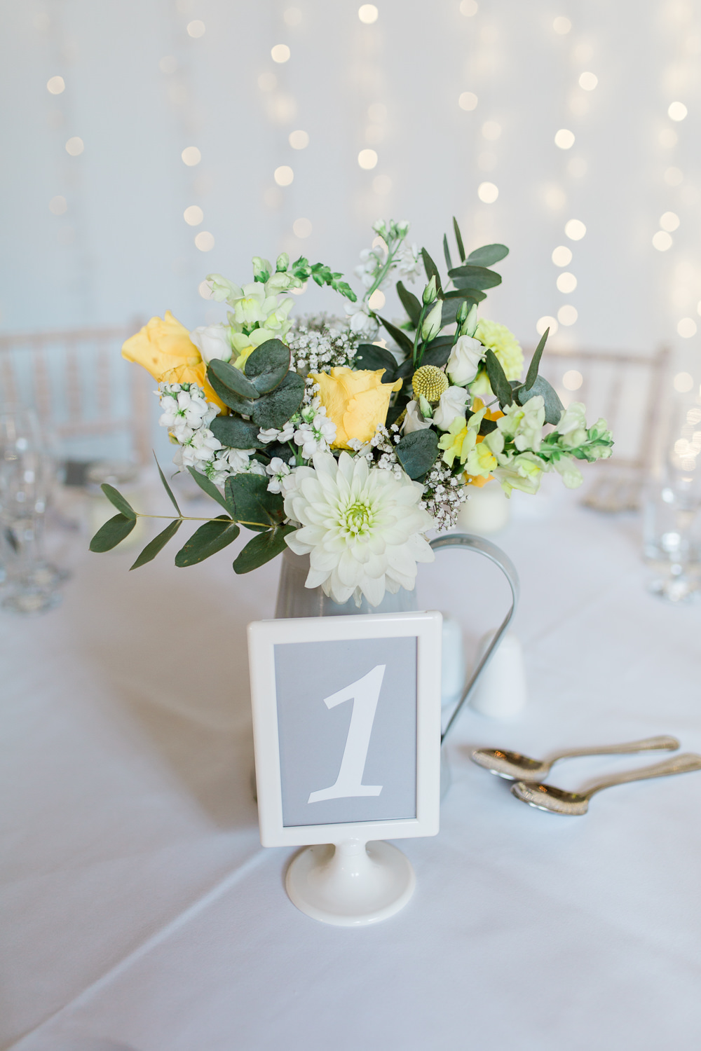 Table Number Ikea Yellow Flower Jug Table Centre Creative Summer Wedding Gemma Giorgio Photography