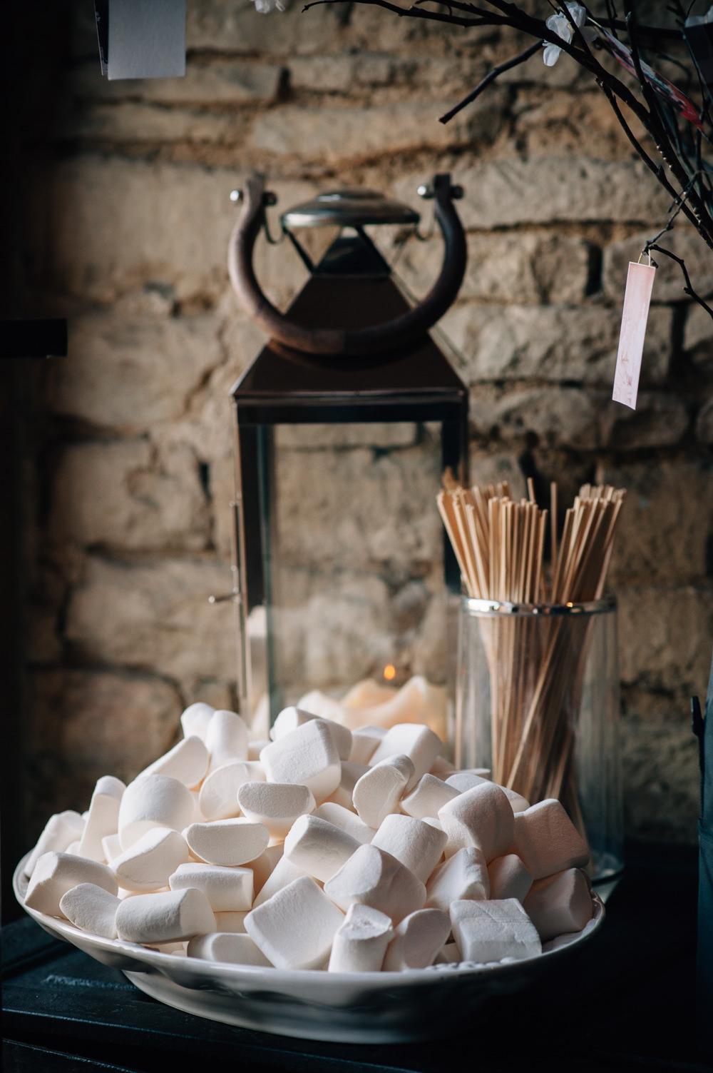 Smores Marshmallows Toasting Cripps Barn Wedding Isobel Murphy Photography